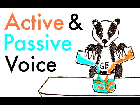 Voice change clipart royalty free stock Active and Passive Voice royalty free stock