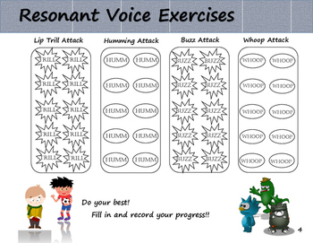 Voice resonance clipart clipart free library Resonant Voice Exercises and Social Story (Voice Therapy Treatment) clipart free library