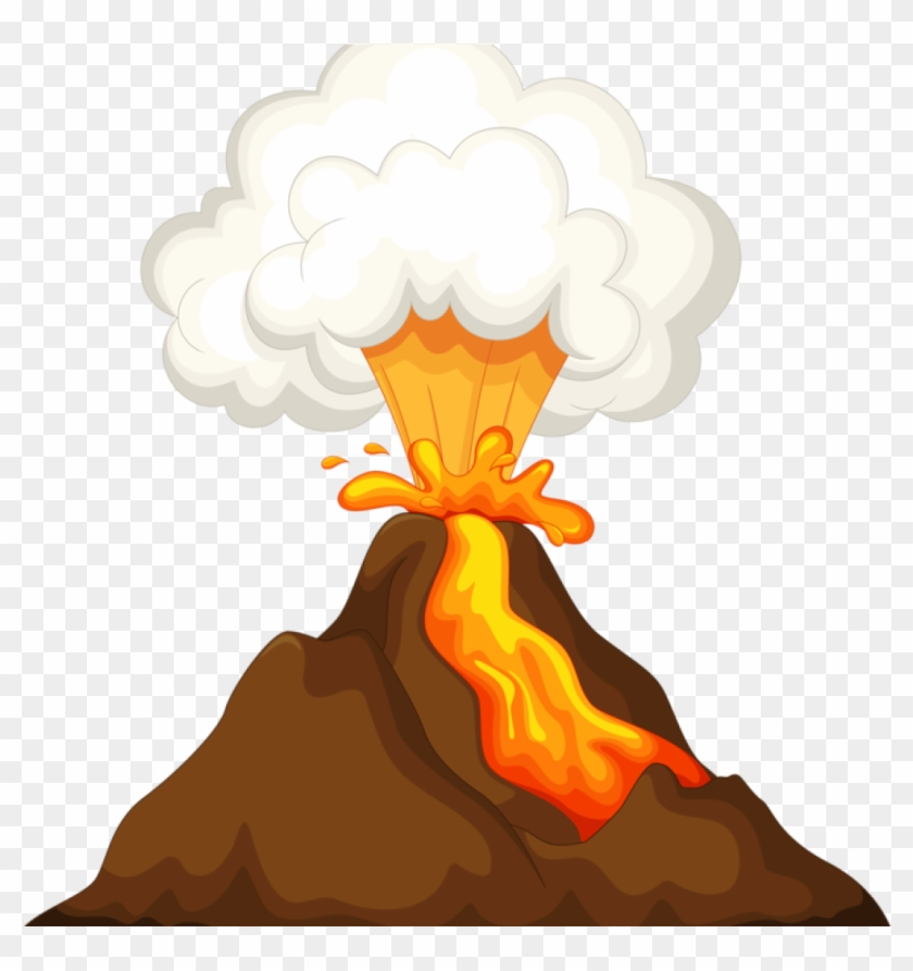 Volcano before eruption clipart