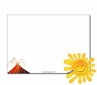 Volcano border clipart banner transparent download Volcano Themed Resources - Happy Learners Resources banner transparent download