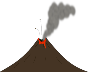 Volcano lava clipart banner freeuse library Volcano With Smoke And Lava Clip Art at Clker.com - vector ... banner freeuse library