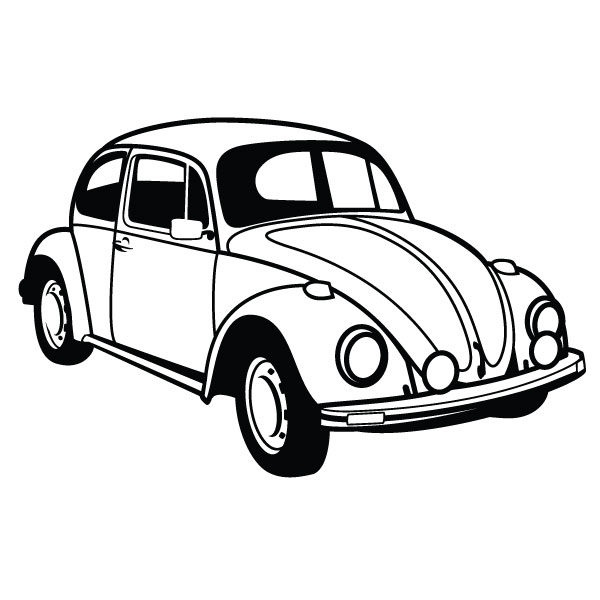 Volkswagen beetle with flowers clipart jpg black and white library Free Volkswagen Beetle Cliparts, Download Free Clip Art ... jpg black and white library