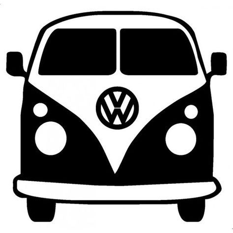 Volkswagen sign clipart png freeuse download free vw bus clipart | *ART* Black & White | Vw bus, Svg cuts ... png freeuse download