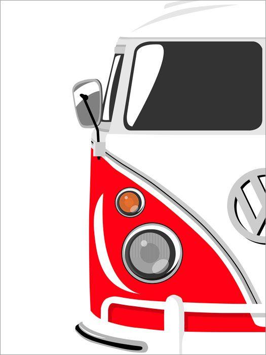 Volky clipart clip art transparent download Details about Camper Van Retro Pop Art Print Poster - s720 ... clip art transparent download