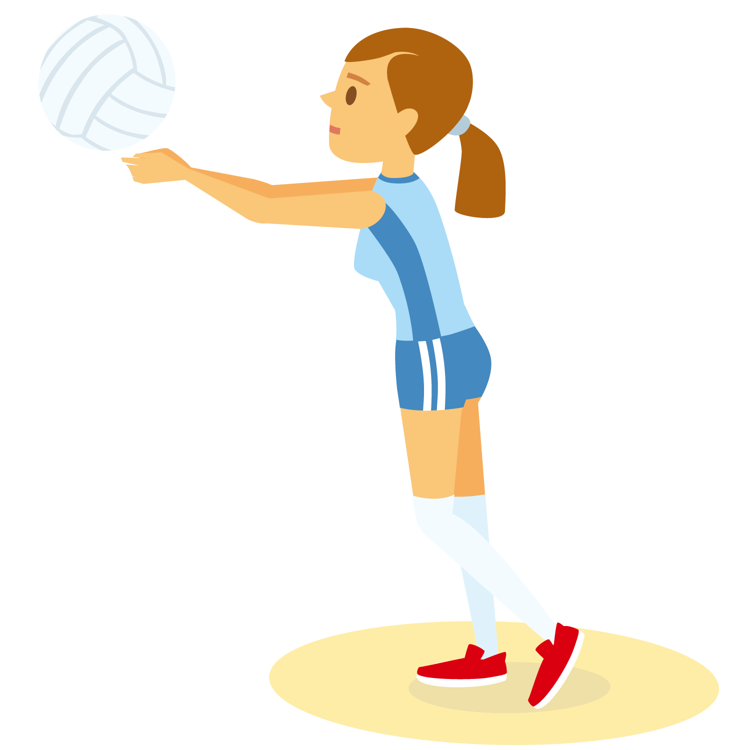 Volleyball and basketball clipart clipart royalty free Cartoon Illustration - Volleyball team girl 1500*1500 transprent Png ... clipart royalty free