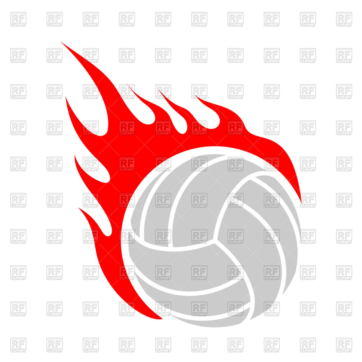 Volleyball ball clipart fire image black and white library Luxury Volleyball Clip Art Free – Grypt.me image black and white library