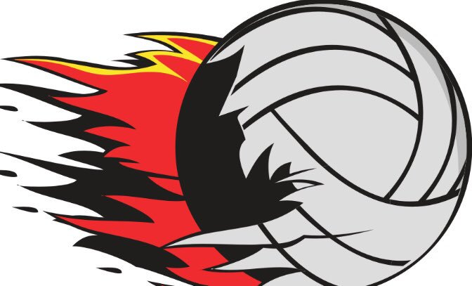 Volleyball ball clipart fire image library stock Jan Ford on Twitter: \