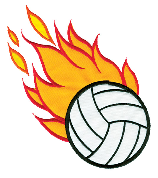 Volleyball ball clipart fire image free Volleyball On Fire   Free download best Volleyball On Fire ... image free