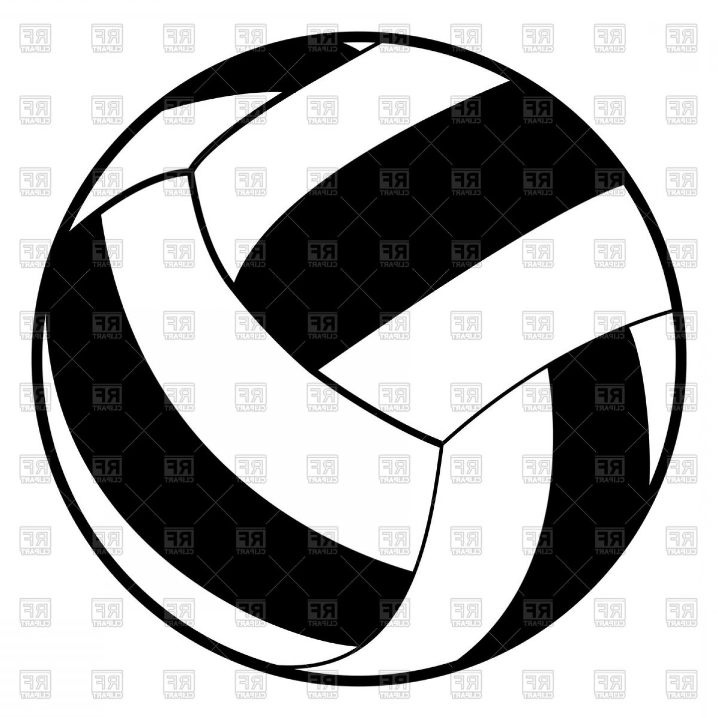 Volleyball ball vector clipart vector transparent download Volleyball Ball Black Color Icon Vector Clipart | SOIDERGI vector transparent download