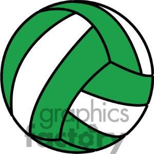 Volleyball banquet clipart vector black and white green volleyball clipart. Royalty-free clipart # 381187 ... vector black and white