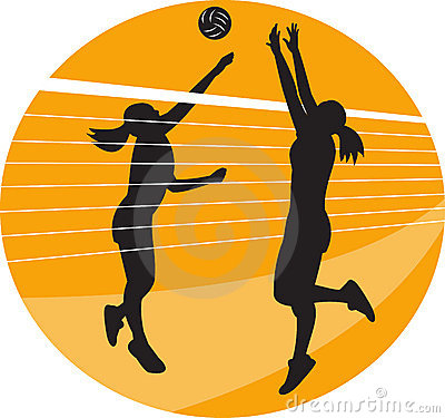 Volleyball block clipart clip art black and white Volleyball Player Spiking Stock Illustrations – 48 Volleyball ... clip art black and white