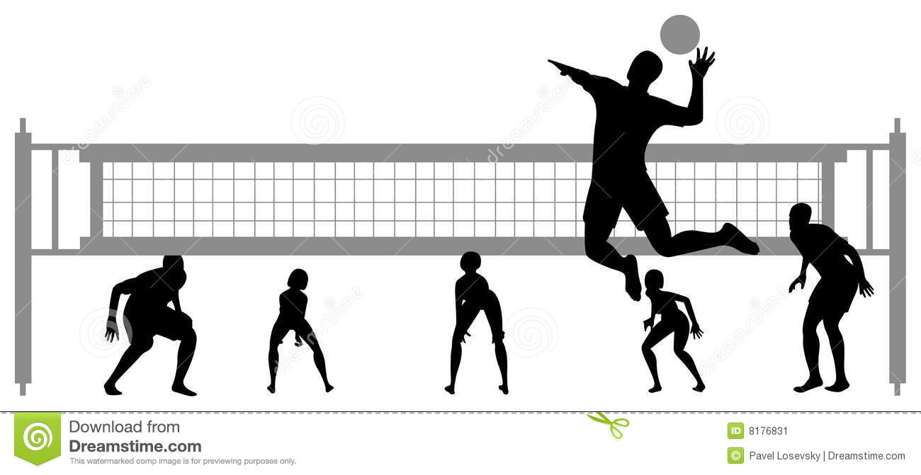 Volleyball block clipart vector black and white library Volleyball match clipart - ClipartFest vector black and white library
