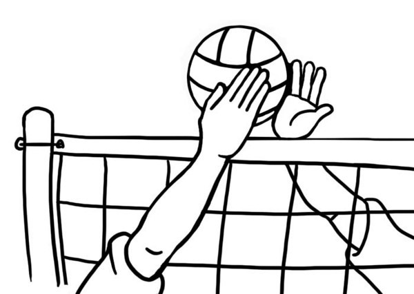 Volleyball block clipart clipart freeuse download Volleyball ball and net clipart - ClipartFest clipart freeuse download