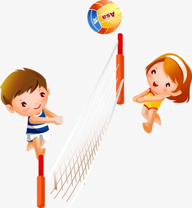 Volleyball charge clipart graphic stock ناقلات طفل لعب الكرة الطائرة, الكرة الطائرة, صبي الكرتون ... graphic stock
