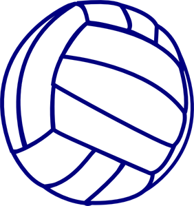 Volleyball outline clipart clipart download Volleyball Blue Outline PNG, SVG Clip art for Web - Download ... clipart download