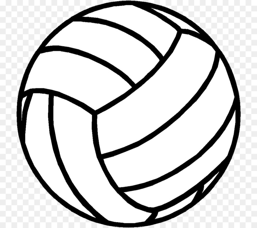 Volleyball clipart with cross freeuse Black Line Background png download - 800*800 - Free ... freeuse