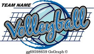 Volleyball with name clipart png free stock Volleyball Clip Art - Royalty Free - GoGraph png free stock