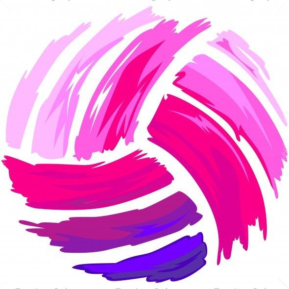 Library Of Volleyball Color Vector Royalty Free Library -3210
