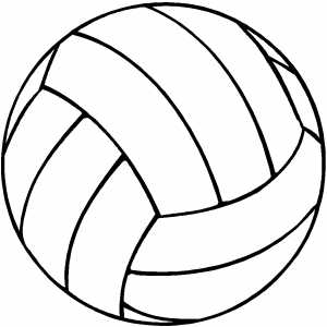 Volleyball color clipart