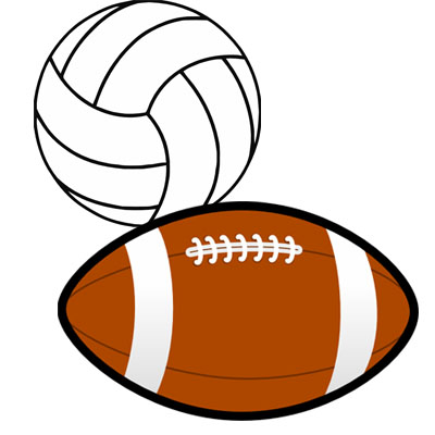 Volleyball football basketball clipart clip art royalty free library Cannon Falls Youth Athletic Association clip art royalty free library