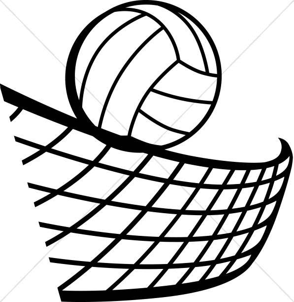 Volleyball over net clipart image royalty free download Volleyball in Black and White | Youth Program Clipart image royalty free download