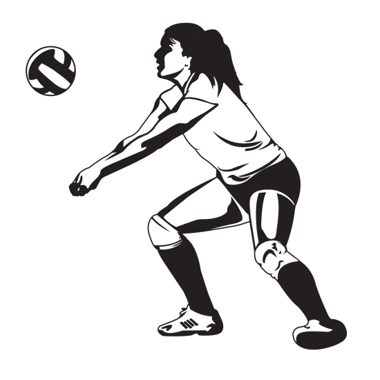 Vector Playing Volleyball, Volleyball Cl #381550 - PNG ... |Volleyball Game Clipart