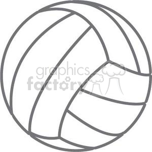 Volleyball jpg clipart clipart royalty free stock Royalty-Free volleyball 381185 vector clip art image - EPS, SVG ... clipart royalty free stock