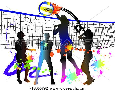 Volleyball jpg clipart picture download Clip Art of volleyball sport k13055792 - Search Clipart ... picture download