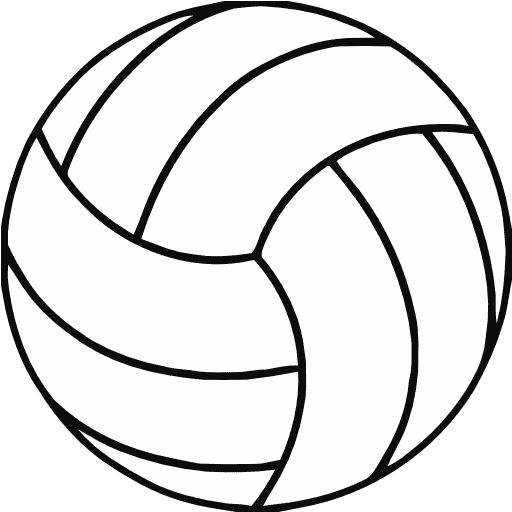 Volleyball jpg clipart clip royalty free stock Free Printable Volleyball Clip Art | Shape Collage - Shapes ... clip royalty free stock