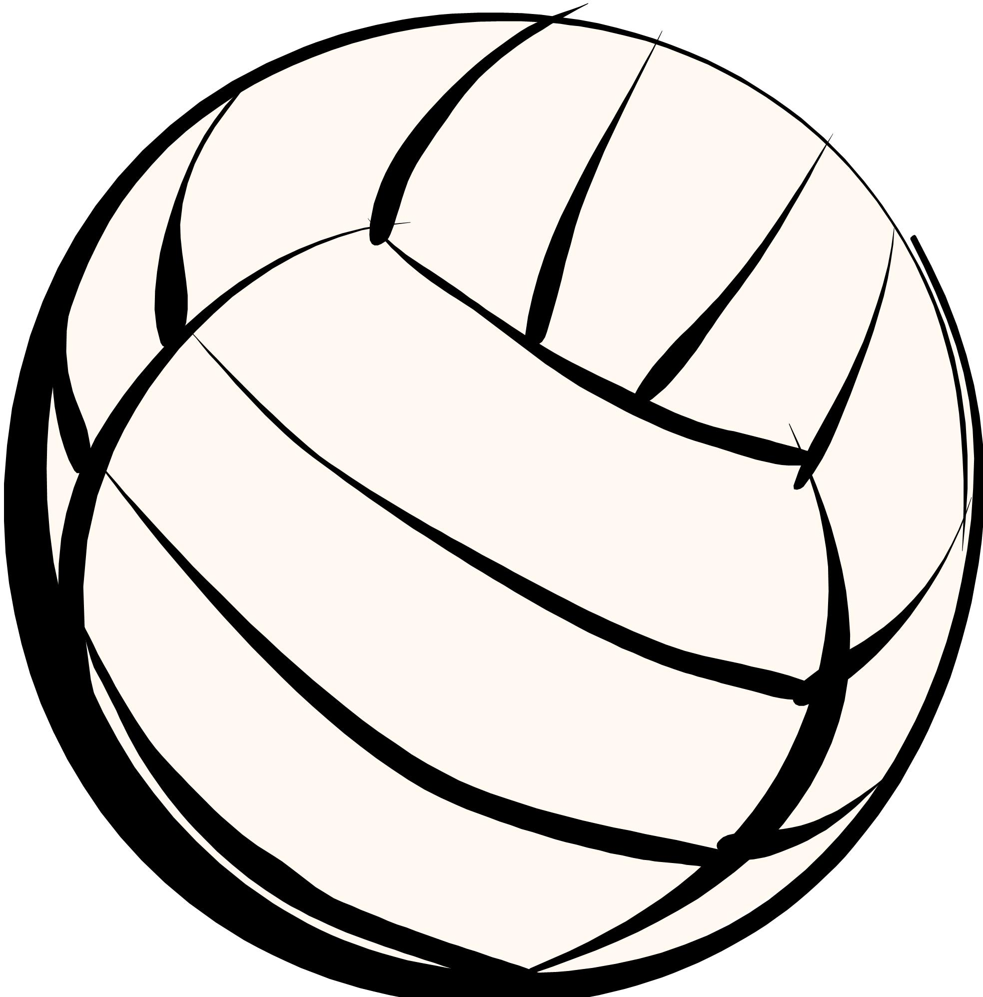 Volleyball jpg clipart banner black and white stock Volleyball Ball Clipart - Clipart Kid banner black and white stock