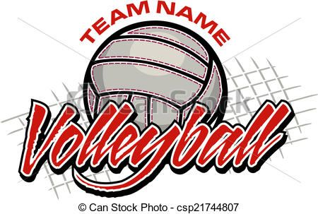Volleyball logo clipart graphic royalty free stock Vector - volleyball team design - stock illustration ... graphic royalty free stock