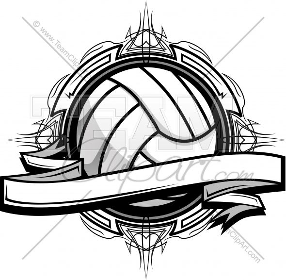 Volleyball logo clipart picture black and white stock Volleyball Clipart Logo Clipart Image.   Simoné   Volleyball ... picture black and white stock