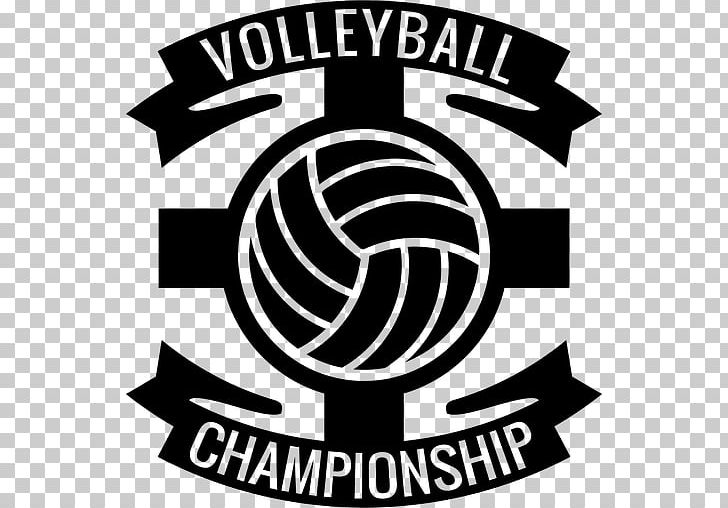 Volleyball logo clipart image black and white library Beach Volleyball Logo Volleyball Player #5 PNG, Clipart ... image black and white library