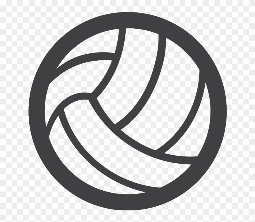 Volleyball logo clipart jpg black and white stock Volleyball Logo Ball Clipart (#1353700) - PinClipart jpg black and white stock