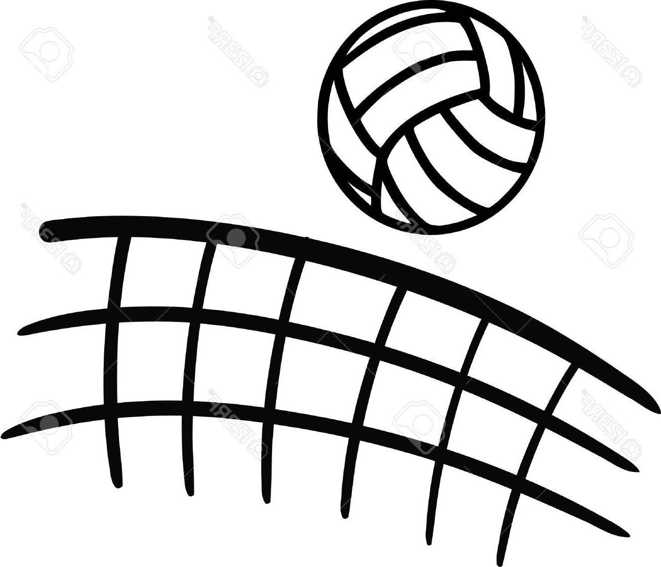 Volleyball with net clipart black and white library HD Volleyball Net Sketch Vector Pictures » Free Vector Art ... black and white library