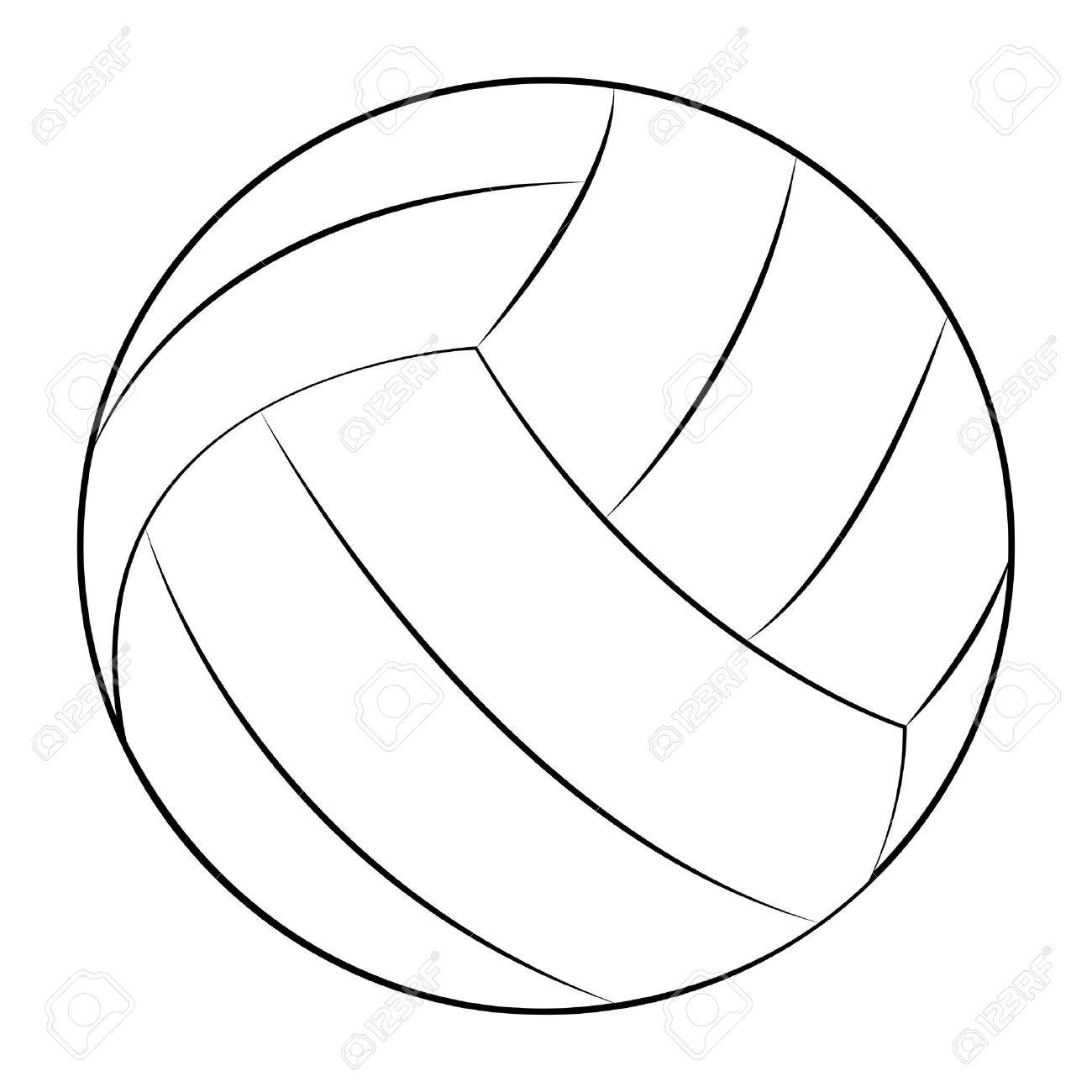 Volleyball outline clipart clip free Volleyball outline clipart 3 » Clipart Station clip free