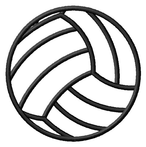 Volleyball outline clipart vector download Free Volleyball Outline Cliparts, Download Free Clip Art ... vector download