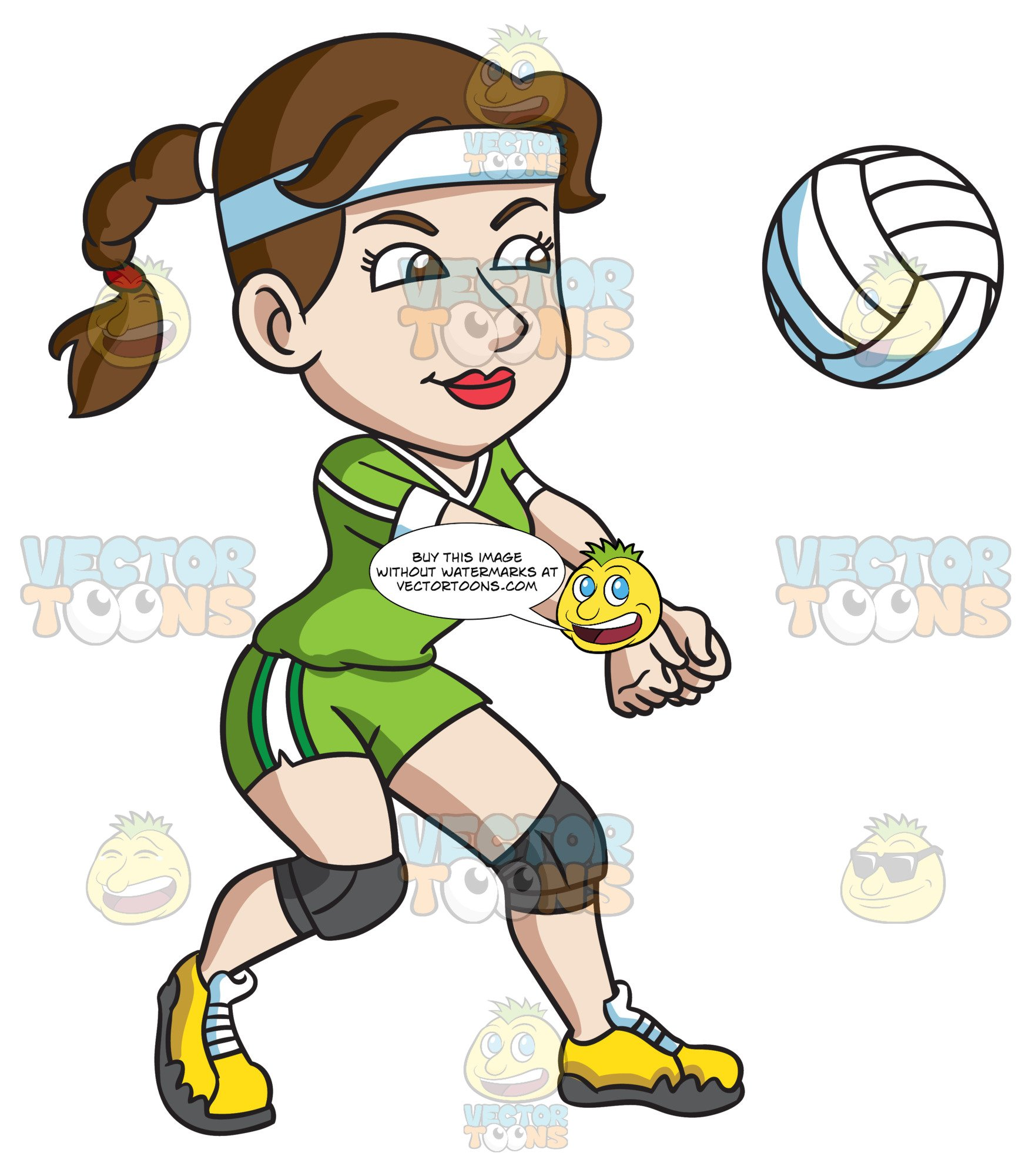 Volleyball player clipart transparent A Female Volleyball Player Hits A Ball With Her Forearms transparent