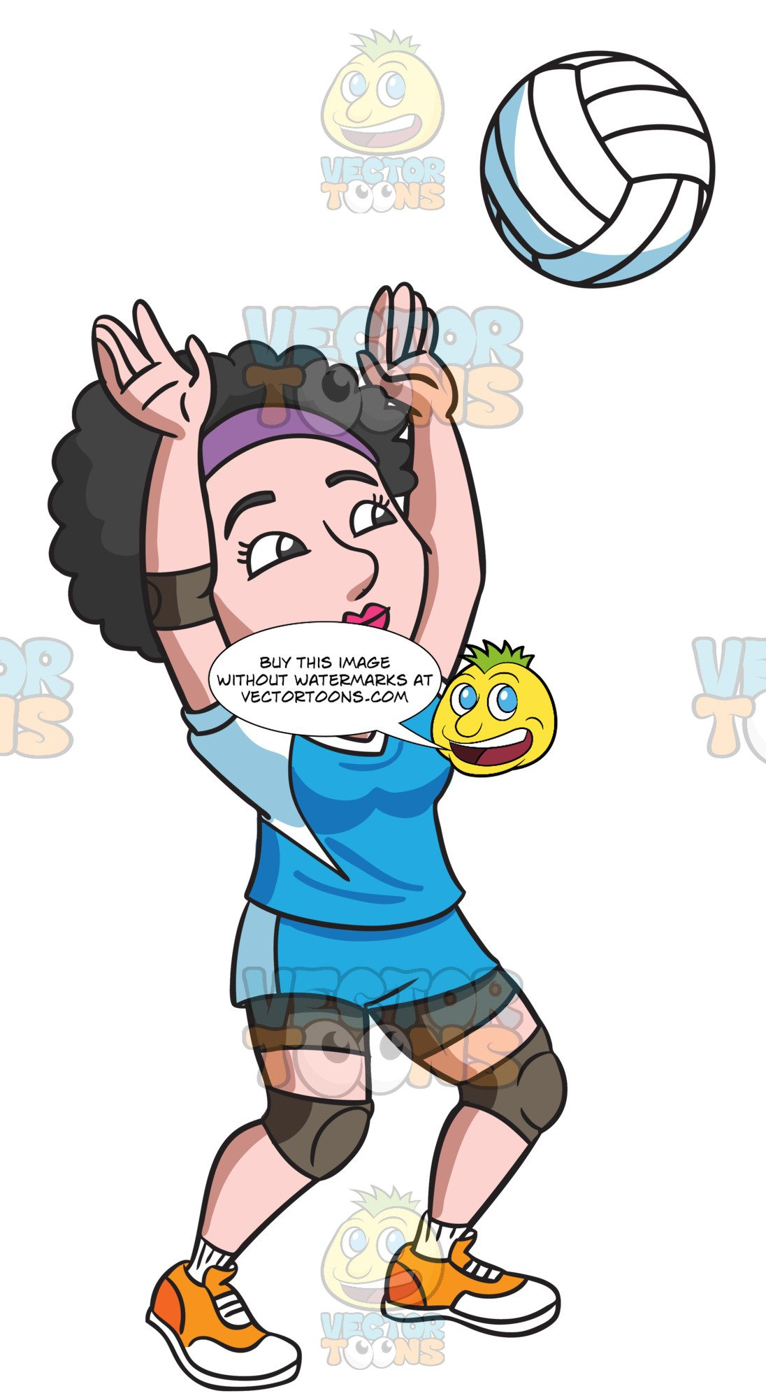 Volleyball player clipart blocking clip freeuse download A Female Volleyball Player Blocking A Ball clip freeuse download