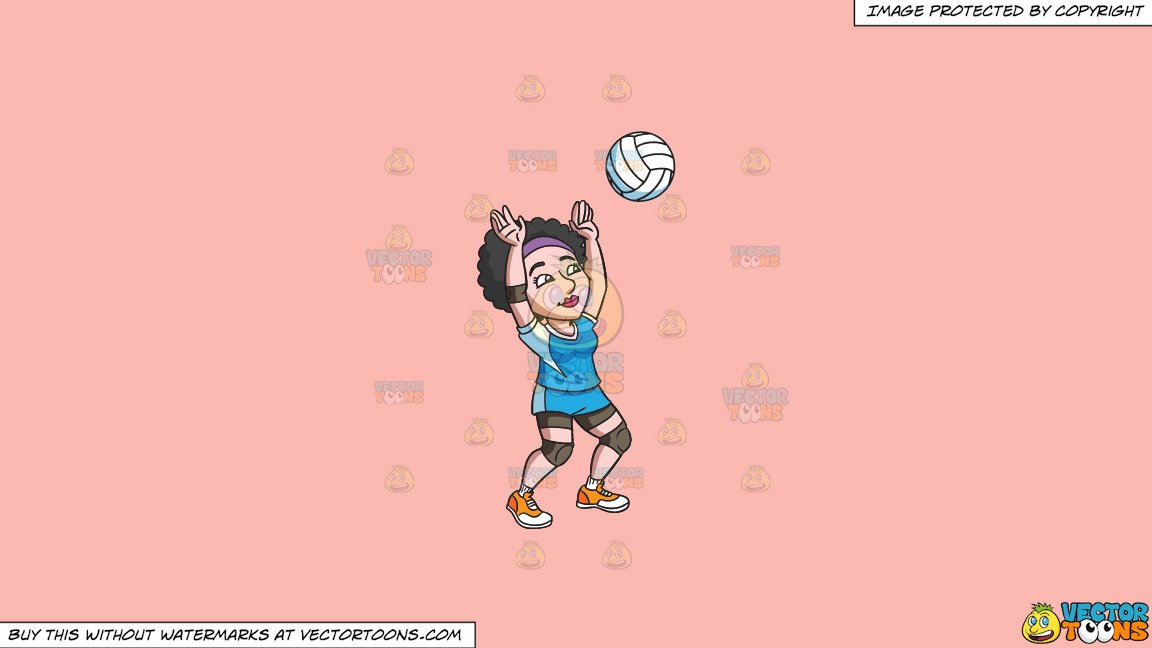 Volleyball player clipart blocking png royalty free Clipart: A Female Volleyball Player Blocking A Ball on a Solid Melon Fcb9B2  Background png royalty free