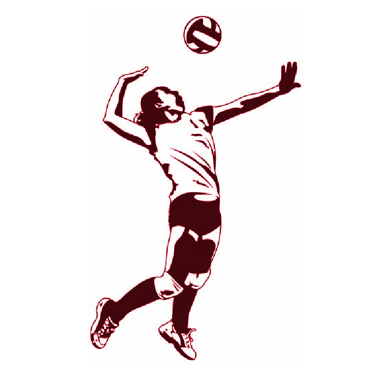 Volleyball player clipart blocking freeuse Collection of Spiking clipart   Free download best Spiking ... freeuse