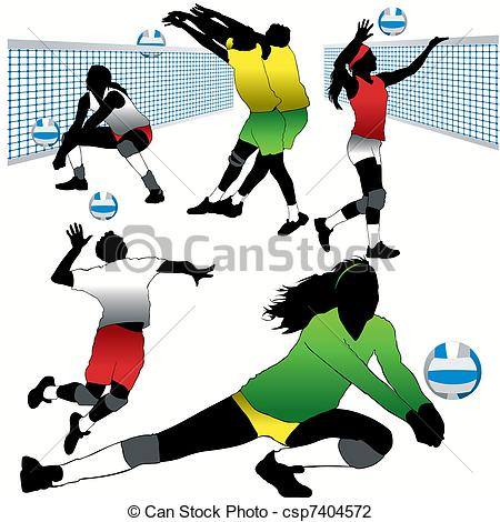 Volleyball players in action clipart vector black and white stock Volleyball players in action clipart 7 » Clipart Station vector black and white stock