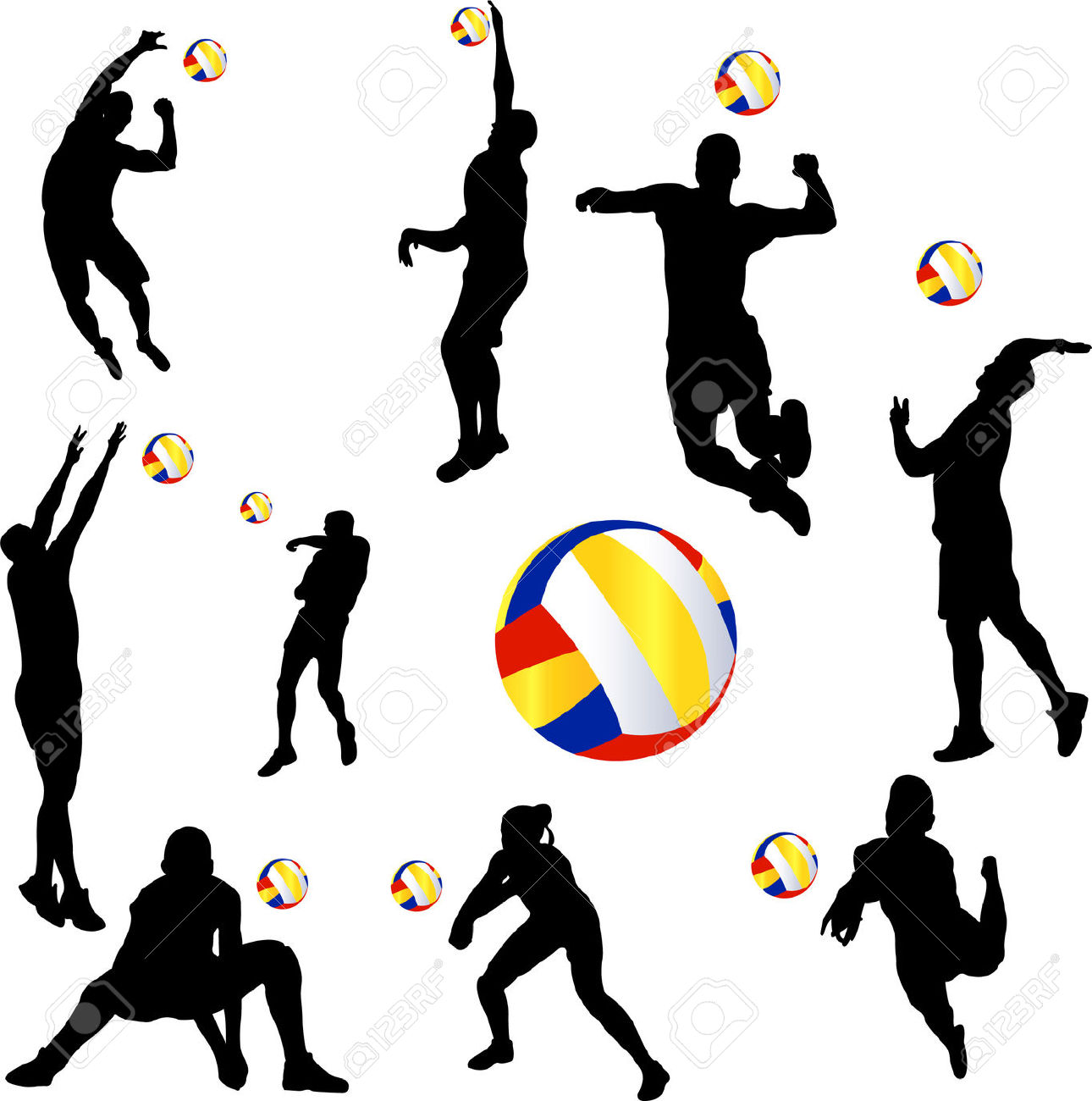 Volleyball players in action clipart picture Volleyball players in action clipart 4 » Clipart Station picture