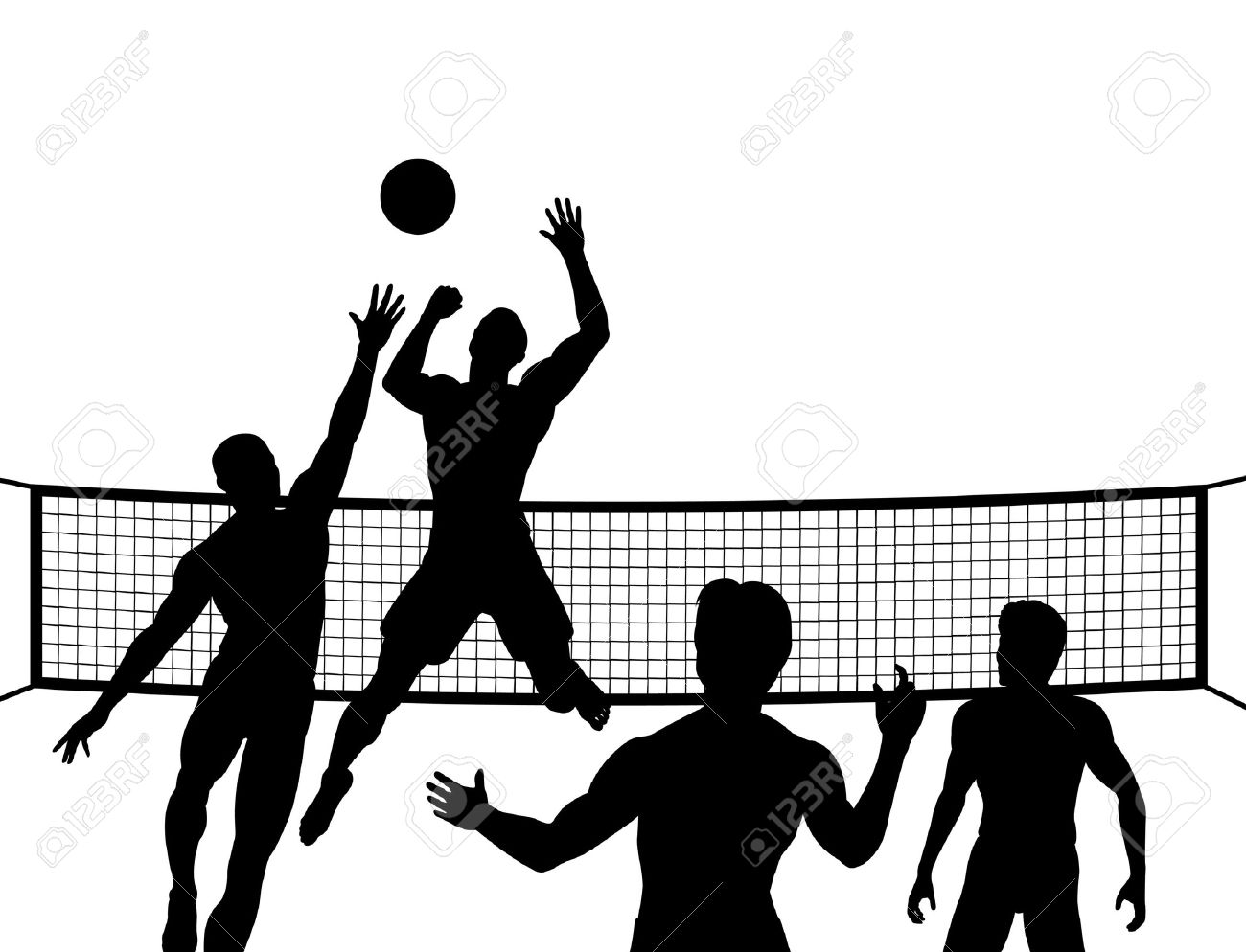 Volleyball players in action clipart jpg free library Volleyball players in action clipart 5 » Clipart Station jpg free library