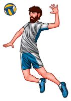 Volleyball players in action clipart clipart royalty free Background Backgrounds Character Characters Design Designs ... clipart royalty free