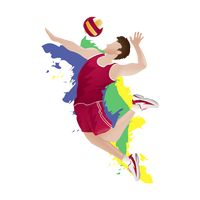 Volleyball players in action clipart png royalty free library Volleyball Volleyballs Ball Balls Hit Smash Smashing Sports ... png royalty free library