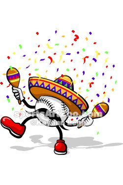 Volleyball tournament mariachi hat clipart jpg library download Baseball Cinco de mayo by Sports Art Zoo   Baseball Designs ... jpg library download