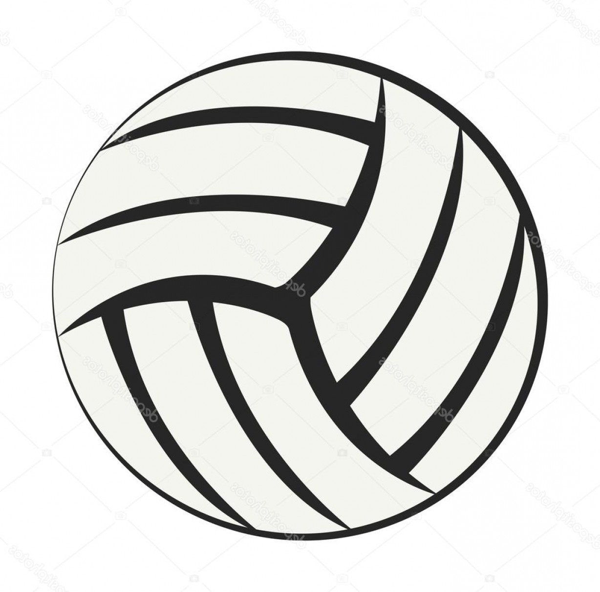 Volleyball vector clipart png royalty free Stock Illustration Athletic Equipment Volleyball Vector ... png royalty free
