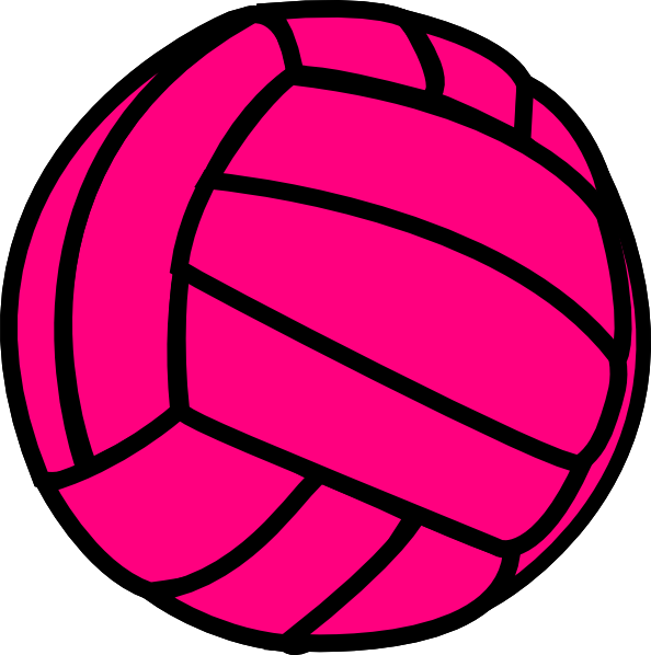 Volleyball vector clipart free clip art royalty free download Pink Volleyball At Clkercom Vector Online clipart free image clip art royalty free download