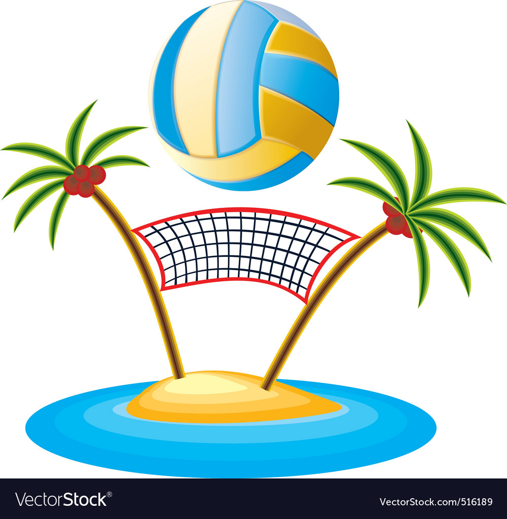 Volleyball vector clipart free vector library stock Beach volleyball vector library stock